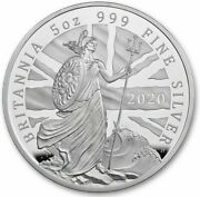 Great Britain 2020 Britannia 5 Oz Five Ounce Silver Andpound10 Pounds Proof Coin Sealed