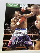 Mike Tyson Evander Holyfield Dual Signed 11x14 Photo Boxing Fight Psa Dna Coa