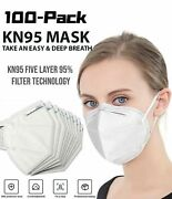 [50 / 100 Pcs] 5 Layers Face Mask Mouth And Nose Protector Respirator Masks White