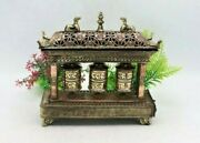 9x4 Spinning Prayer Wheel Triple Spinning Wheels - Home And Living Collectibles