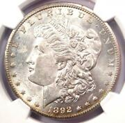 1892-cc Morgan Silver Dollar 1 - Certified Ngc Uncirculated Detail Unc Ms