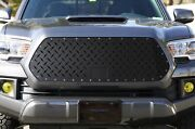 Steel Aftermarket Grille For 2018-2020 Toyota Tacoma Diamond Tread Plate Mesh