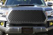 Steel Aftermarket Grille For 2016-2017 Toyota Tacoma Diamond Tread Plate Mesh