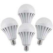 4 Pack Emergency Bulbs Rechargeable Led Light With Battery Backup, Led Bulbs