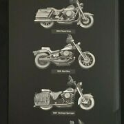 Harley Davidson Wall Plaque Motorcycles Of The 90's