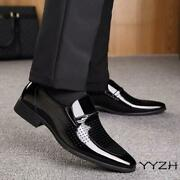 Mens Leather Business Formal Dress Oxfords Breathable Hollow Flats Casual Shoes
