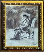 Claude Monet Original Pencil And Graphite On Paper Drawing Signed. Cezanne Era
