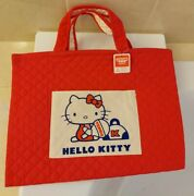 Genuine Sanrio Hello Kitty Retro Quilted Shopping School Bag Collectible Vintage