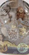 New Disney Beauty And The Beast Castle Friends Collection Figurines, 5pcs Set.