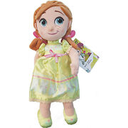 Disney Store Animators Collection Anna Small Plush Soft Cuddly Toy Doll Frozen