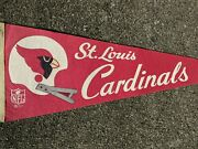 1967 St Louis Cardinals Nfl Football Pennant Full Size Vintage