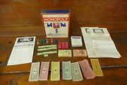 Antique Monopoly Game Copyright 1937 Wood Houses Hotels Parker Brothers Vintage