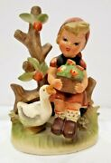 Vintage Lot Of 2 Vintage Boy And Girl Figurines By Erich Stauffer And Duck 197/7