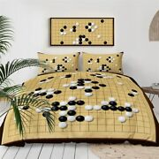 Yellow Game Play Ball Checked King Queen Twin Quilt Duvet Pillow Cover Bed Set