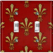 Metal Light Switch Cover Wall Plate For Room Damask Burgundy Wall Sconce Dam076