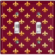 Metal Light Switch Cover Wall Plate For Room Damask Burgundy Fancy Spade Dam082