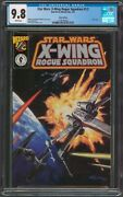 Star Wars X-wing Rogue Squadron 1/2 Wizard Silver Variant Cgc 9.8 Dh 2 On Census