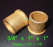 3/4 X 1 X 1 Flanged Oilite Bronze Bushing Bearing Spacers Free Ship