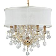Crystorama Lighting 4415-gd-smw-cl-s Brentwood - 6 Light Chandelier In