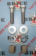 1934-1980 Buick Exhaust Pipe To Manifold Flange Kits. Stainless Steel And Brass