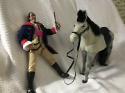 X-louis Marx 8 Figures Unmarked Viking Informative Intl 2 Dolls And Horse