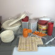 Lot Of 30 Tupperware Harvest Collection From 1984 New And Vintage W/ Order Form