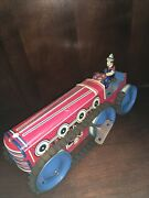 Tin Lithograph Marx Caterpillar Tractor Truck Wind Up Toy