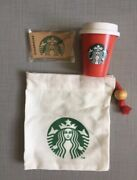 Starbucks Holiday Red Mini Cup Christmas Gift Set Pouch Bag Japan Excls -no Card