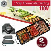 Large Area Teppanyaki Indoor Barbecue Electric Grill With Nonstick Baking Surfac