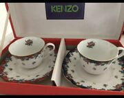 New ☆ Kenzo Bagatelle Cup And Saucer-pair Floral Pattern