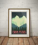 Twin Peaks Poster Vintage Travel Poster, Home Decor Style Poster No Frame
