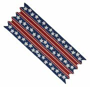 Pier1 36 Patriotic Red White And Blue Beaded Table Runner Bnwt