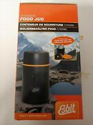 Esbit Food Jug 1l Insulated Stainless Steel Push Button Pressure Release