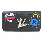 Free Shipping Pre-owned Louis Vuitton M63456 Portefeuille Twist Patch Epi