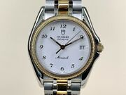 Very Rare 1991 Tudor Monarch Two-tone White Dial Watch 15733 With Paper