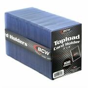 100 Standard 3x4 Bcw Toploader Card Holder - 100 Ct Pack - Brand New And Sealed