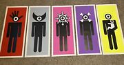 Russell Shaw Higgs Pedestrian Print Complete Set Of 5 Signed And /50 Like Stik Art