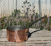 Matfer Copper 1 Qt Sauce Pan W/ Tin Lining And Cast Iron Handle, Made In France