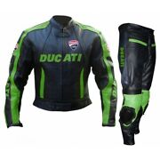 Ducati Street Racing Ce Protective Armour Men Motorcycle Leather Jacket Suit