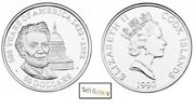 Cook Islands 50 Dollars 1990 Abraham Lincoln Silver Coin