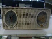 Vintage Zenith B514v Pink Clock Radio Alarm - 50and039s / 60and039s .. Works