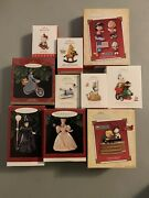Lot Of 10 Hallmark Keepsake Ornaments Mint In Boxes Wizard Of Oz Peanuts + More