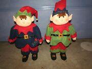 25 Elves Lot 2 Standing Decoration Holiday Porch Greeter Display Christmas