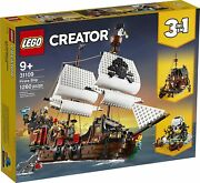 Lego 31109 Creator 9+ Pirate Ship New 3 In 1 Skull Island Hide-away 1260 Pieces