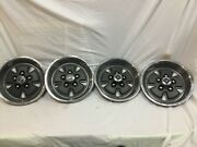1970 1971 1972 1973 Ford Mustang Mach 1 Deep Dish Hubcaps Wheel Covers Set Of 4