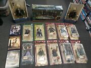 The Lord Of The Rings Huge Lot Action Figures Toy Biz And Dvd Trilogy Set Rare