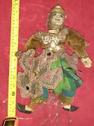 Antique Thailand Asian Marionette Wooden Puppet Hand Painted 14 Inch