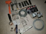 Lot 30 Houshold Items Plumbing Repair Tools Wire Cable Hammer Pipe Fittings G5