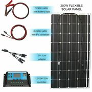 Flexible Solar Panel Kit 12v 100w 200w 300w Controller Battery Charger Cables