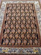 Genuine Antique Tribal Pictorial Hand Knotted Wool Oriental Rug Cleaned 4.7 X6